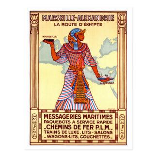 Cartão Postal Poster restaurado Egipto das viagens vintage de