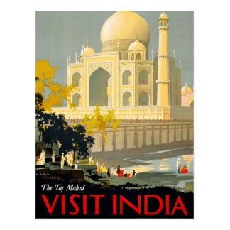 Cartão Postal Poster Restor das viagens vintage de India da