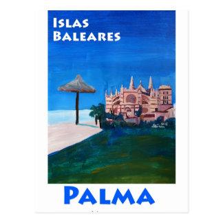 Cartão Postal Poster retro Palma de Maiorca