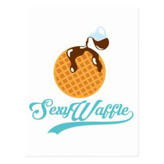 """Cartão Postal Poster """"sexy"""" do Waffle"""