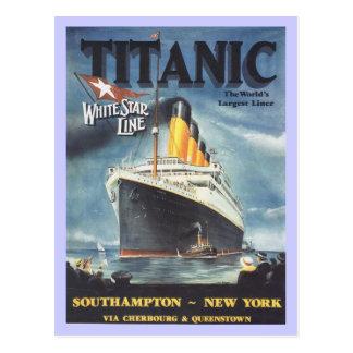 Cartão Postal Poster titânico original