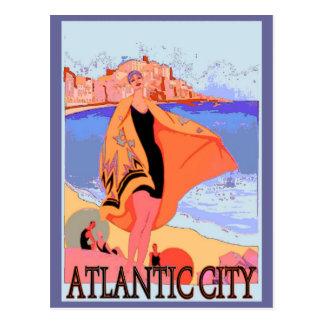 Cartão Postal Poster vintage 2 de Atlantic City