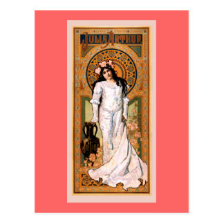 Cartão Postal Poster vintage de Julia Arthur