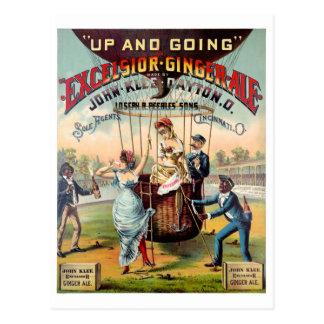 Cartão Postal Poster vintage do ginger ale das maravalhas
