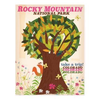 Cartão Postal Poster vintage do parque nacional de montanha
