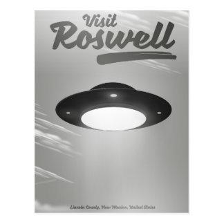 Cartão Postal Poster vintage do UFO de Roswell da visita
