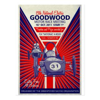 Cartão Postal Poster vintage final nacional 2011 de Greenpower