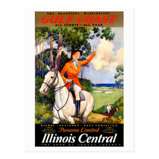 Cartão Postal Poster vintage restaurado Mississippi de Illinois