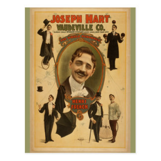 Cartão Postal Poster vintage - vaudeville Co do cervo de Joseph