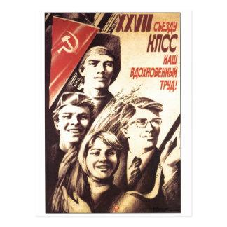 Cartão Postal Posters da propaganda de União Soviética da guerra