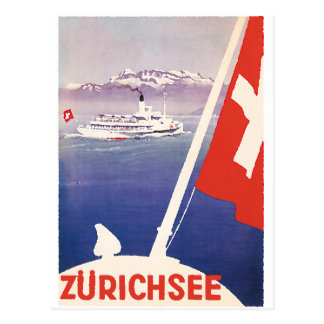 Cartão Postal Posters das viagens vintage: Suiça de Zurique do