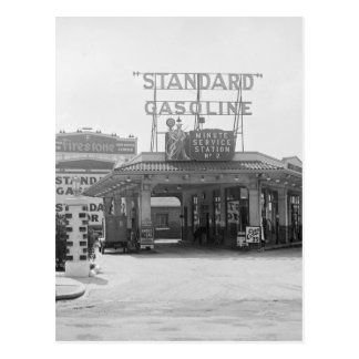 Cartão Postal posto de gasolina do 1920