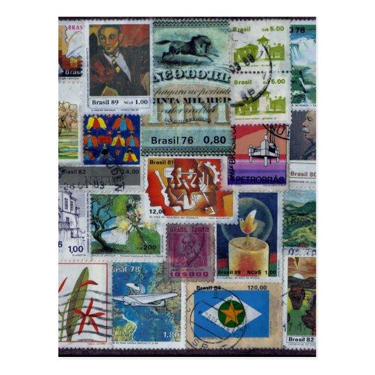 Cartão Postal Poststamp-themed Postcard