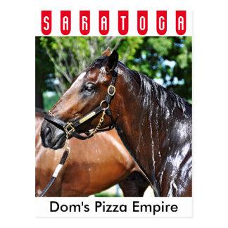 Cartão Postal Potro do império da pizza dos DOM