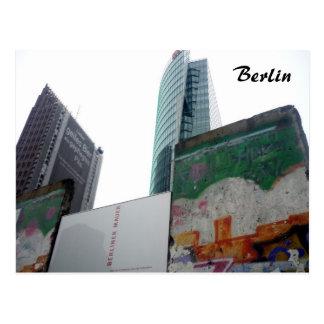 Cartão Postal potsdamer do muro de Berlim