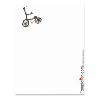 Cartão Postal Pouca bicicleta