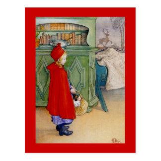 Cartão Postal Pouca capa de equitação vermelha 1913
