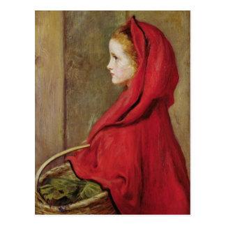 Cartão Postal Pouca capa de equitação vermelha por John Everett