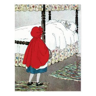 Cartão Postal Pouca capa de equitação vermelha: Que grandes