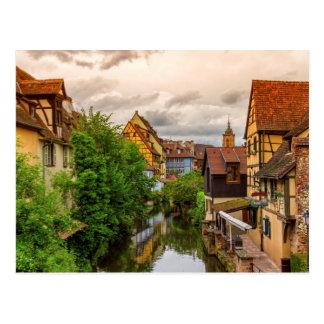 Cartão Postal Pouca Veneza, pequeno Venise, em Colmar, France