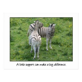 Cartão Postal Poucos amor e amizade do apoio…