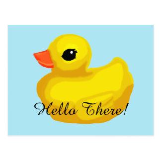 "Cartão Postal ""Poucos Ducky de borracha """