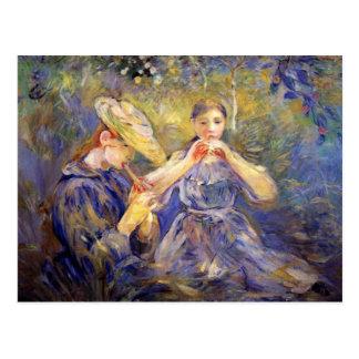 Cartão Postal Poucos jogadores de flauta por Berthe Morisot