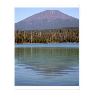 Cartão Postal Poucos lago & vulcão lava