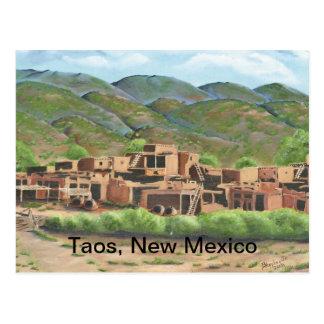 Cartão Postal Povoado indígeno de Taos, New mexico
