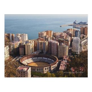 Cartão Postal Praça de touros e porto de Malagueta do La