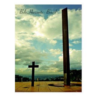Cartão Postal Praça faz a papá, Belo Horizonte, Brasil