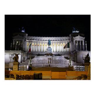 Cartão Postal Praça Venezia na noite