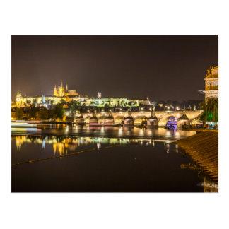 Cartão Postal Praga - castelo & ponte de Charles