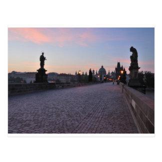 Cartão Postal Praga pelo alvorecer