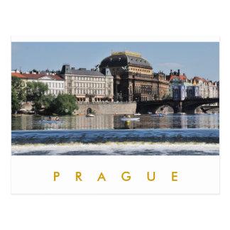Cartão Postal Praga - teatro nacional