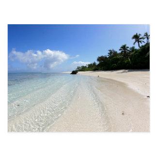 Cartão Postal praia bonita em Tonga