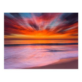 Cartão Postal Praia | Carlsbad de Tamarack do por do sol, CA