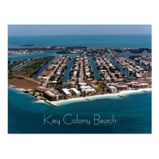 Cartão Postal Praia chave da colônia, maratona, Florida