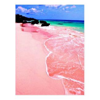 Cartão Postal Praia cor-de-rosa de Bermuda