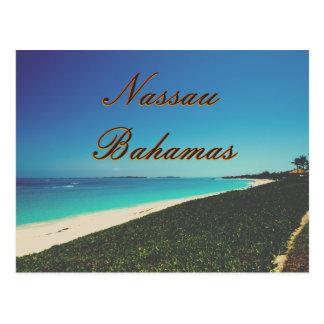 Cartão Postal Praia da água de turquesa