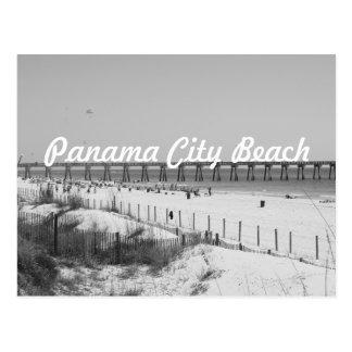 Cartão Postal Praia da Cidade do Panamá, cais de FL & preto &