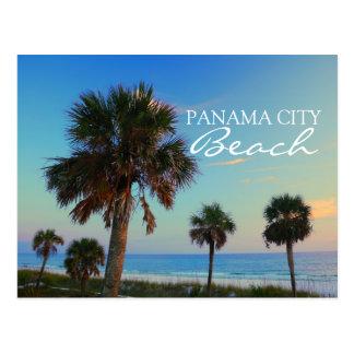 Cartão Postal Praia da Cidade do Panamá, por do sol das