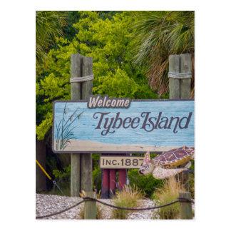 Cartão Postal praia da ilha do tybee