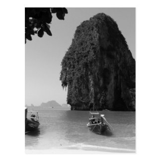 Cartão Postal Praia de B&W Krabi