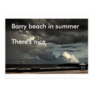 Cartão Postal Praia de Barry no verão