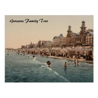 Cartão Postal Praia de Blankenberghe mim, Bélgica