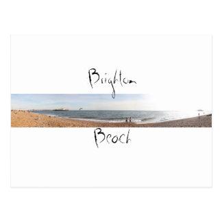 Cartão Postal Praia de Brigghton