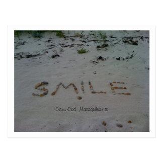 Cartão Postal Praia de Cape Cod do sorriso