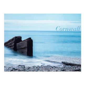 Cartão Postal Praia de Charlestown, Cornualha