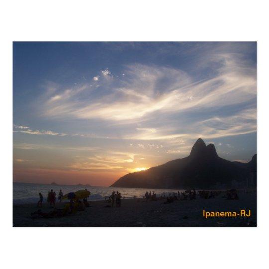 Cartão Postal Praia de Ipanema